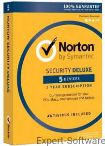 NORTON Security Deluxe 5 Stanowisk / 1 Rok